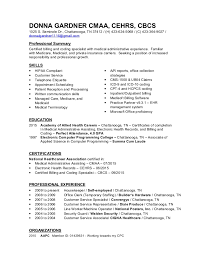 resume summary of qualifications for cmaa donna gardner cmaa cehrs cbcs resume2