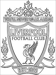 colouring colouring pages liverpool badge