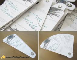 how to make fan wedding programs wedding programs made like fans request to make some wedding