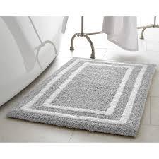 Cotton Reversible Bathroom Rug Jean Border Plush Reversible Cotton Bath Mat Free