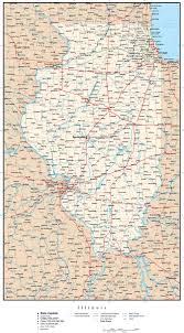 Chicago County Map With Cities by Illinois Mapillinois State Mapillinois Road Map Map Of Illinois