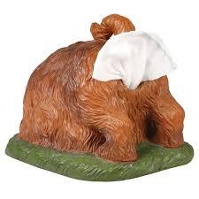 shabby chic dog ring holder images Digging dog butt tissue holder funny square shaped tissue box jpg