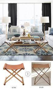 Blue Living Rooms by Best 25 Leather Stool Ideas On Pinterest Beach Style Floor