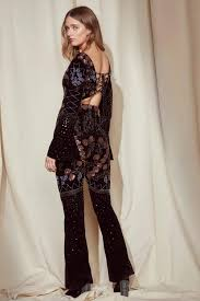 gal jumpsuit gal studio donna embellished jumpsuit shop clothes at
