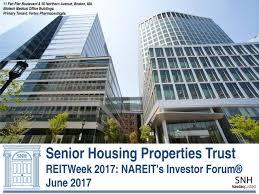 11 fan pier boulevard senior housing properties trust snh presents at nareit s reitweek