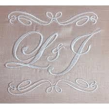 Engraved Wedding Invitations Presonalized Monogram U0026 Initial Embroidered Silk Wedding Pocket