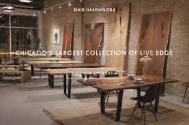 live edge table chicago elko hardwoods modern live edge furniture dining coffee tables
