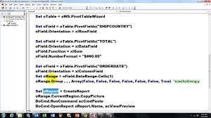 youtube pivot tables 2016 access vba to create pivot table reports youtube