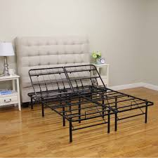 Platform Metal Bed Frame Mattress Foundation Modern Sleep Adjustable Platform Metal Bed Frame Walmart