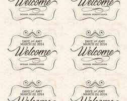 personalized wedding welcome bags custom wedding welcome bag labels welcome to our big