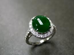 jade engagement ring jade diamond ring in 18k white gold by honngaijewelry on etsy