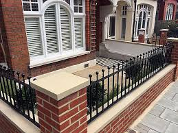 red brick garden front wall privacy screen low maintenance london