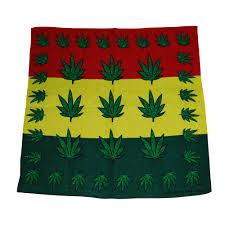 Pot Flag Weed Leaf Bandana Mary Jane Pot Leafs Rasta Flag With Weed Leafs