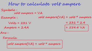 how to calculate volt ampere electrical calculation youtube