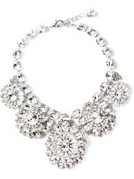 crystal necklace statement images Lyst dolce gabbana statement floral crystal necklace in white jpeg