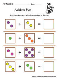 simple addition using dots math addition worksheets downloadable
