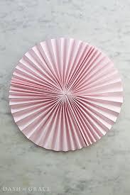 paper fans paper fan paper rosette diy dash of grace