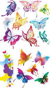 colorful butterflies vector vector graphics