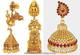 gold jhumka earrings design with price earrings buttalu designs by joyalukkas jewellery designs