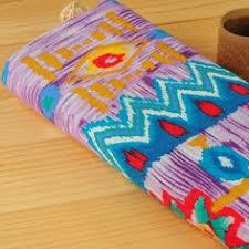 Cotton Linen Upholstery Fabric 145x100cm Unique Cotton Linen Patchwork Material Ethnic Cloth