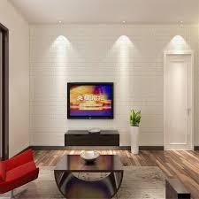 30 60cm white 3d brick wall sticker self adhesive panel decal