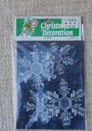 vintage snowflake ornaments hong kong clear plastic retro tg u0026y