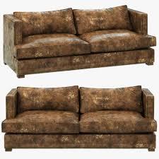 living room photo pm restoration hardware leather sofa sold