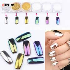 6pcs pack mirror powder pigment nail glitter
