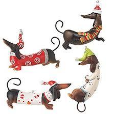 raz imports dachshund ornaments set of 4 home