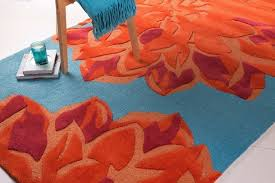 Burnt Orange Area Rug Kids Budding Area Rug Contemporary Kids Rugs By Rugpal