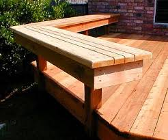 How To Build A Handrail On A Deck Good Bench Idea Would Work For A High