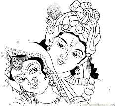 krishna clipart line drawing pencil and in color krishna clipart
