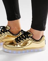 light up sole shoes wize ope wize ope pop gold light up sole trainers