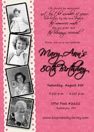 Personalized Birthday Invitation Cards Custom Birthday Invitation 30th 40th 50th 60th 70th 75th