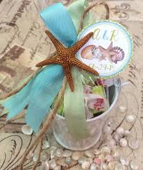 Salt Water Taffy Wedding Favor Favor Pail With Salt Water Taffy With Real Starfish Vintage