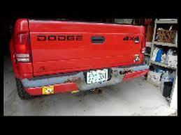 2004 dodge dakota rear bumper dodge dakota bumper removal highlights