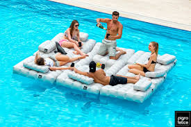Motorized Pool Chair Inflatable Furniture That Double As Pool Floats Design Milk