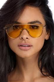 final sale yellow shield u0027em sunglasses