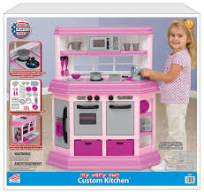 Kitchen Sets For Girls Amazon Com American Plastic Toy Deluxe Custom Kitchen Toys U0026 Games