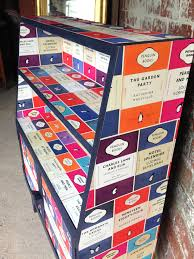 latest project u2013 retro bookcase with decoupage penguin library