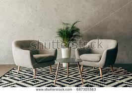 modern interior room nice furniture inside stock illustration