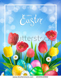 easter greeting cards easter greeting card realistic glossy 3d stock illustration