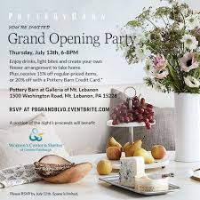 Pottery Barn Registry Event Pottery Barn Opens New Store In Pittsburgh Business Wire
