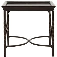 dark walnut end table safavieh owen dark walnut end table amh6521a the home depot
