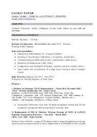 Network Engineer Resume 2 Year Experience Gaurav Pawar Resume