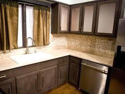 Dark Kitchen Cabinets With Backsplash Decorating Exciting Striped Target Kitchen Curtains With Dark