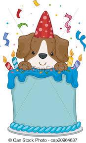 dog birthday cake dog birthday cake illustration of a dog sitting on a