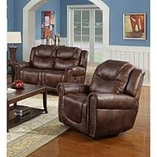 brown leather reclining loveseat foter