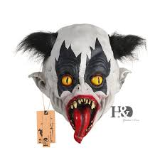 Halloween Costumes Scary Clowns Aliexpress Buy Scary Clown Latex Mask Red Long Tongue