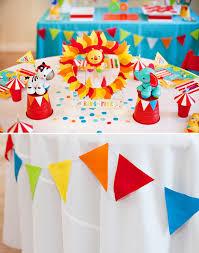 Circus Birthday Decorations Bright U0026 Colorful Big Top Birthday Circus Animals Birthday